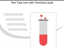 Test Tube Icon With Chemical Liquid