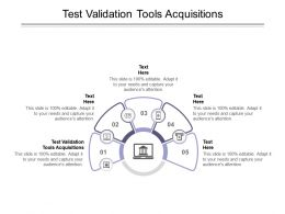 Test Validation Tools Acquisitions Ppt Powerpoint Presentation Gallery Smartart Cpb