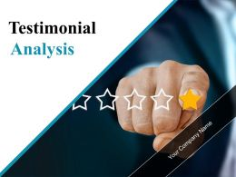 Testimonial Analysis Powerpoint Presentation Slides