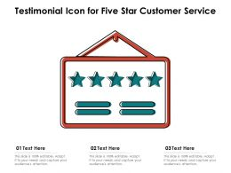Testimonial Icon For Five Star Customer Service