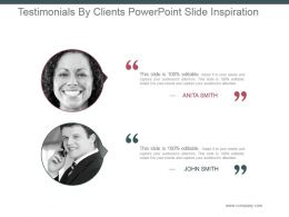 Testimonials By Clients Powerpoint Slide Inspiration