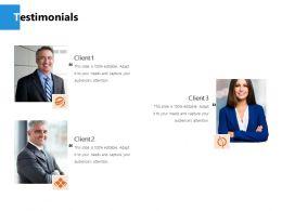 Testimonials Communication Ppt Powerpoint Presentation File Inspiration
