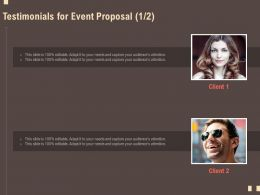 Testimonials For Event Proposal R122 Ppt Powerpoint Presentation Model