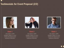 Testimonials For Event Proposal R123 Ppt Powerpoint Gallery Mockup