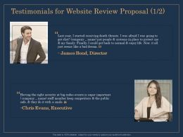 Testimonials For Website Review Proposal R166 Ppt File Aids