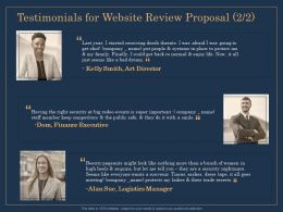 Testimonials For Website Review Proposal Security Ppt File Brochure