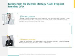 Testimonials For Website Strategy Audit Proposal Template L1530 Ppt Powerpoint Icon
