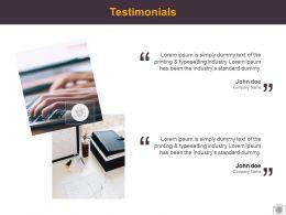 Testimonials Management L525 Ppt Powerpoint Presentation Pictures Tips