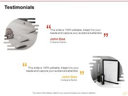 Testimonials Management Ppt Powerpoint Presentation Pictures Examples