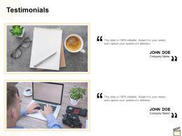 Testimonials Technology Ppt Powerpoint Presentation Infographic Template