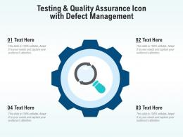 Testing And Quality Assurance Icon With Defect Management