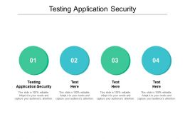 Testing Application Security Ppt Powerpoint Presentation Gallery Master Slide Cpb