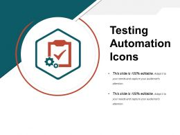 Testing Automation Icons Ppt Background
