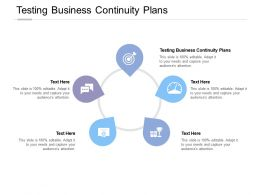Testing Business Continuity Plans Ppt Powerpoint Presentation Model Background Images Cpb