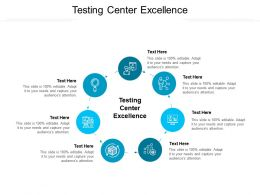 Testing Center Excellence Ppt Powerpoint Presentation Inspiration Design Inspiration Cpb