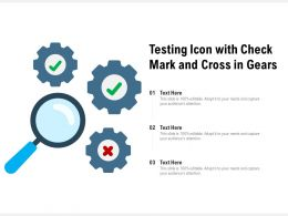 Testing Icon With Check Mark And Cross In Gears