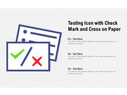 Testing Icon With Check Mark And Cross On Paper