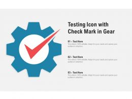 Testing Icon With Check Mark In Gear