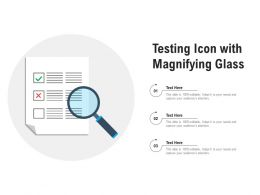 Testing Icon With Magnifying Glass