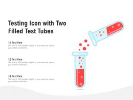 Testing Icon With Two Filled Test Tubes