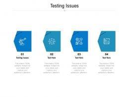 Testing Issues Ppt Powerpoint Presentation Icon Template Cpb