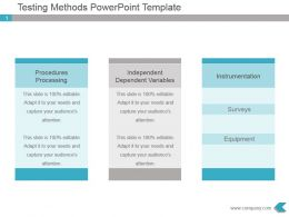 Testing Methods Powerpoint Ppt Template Diagram
