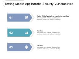 Testing Mobile Applications Security Vulnerabilities Ppt Powerpoint Presentation Show Shapes Cpb