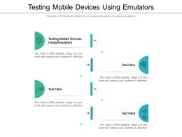 Testing Mobile Devices Using Emulators Ppt Gallery Graphics Download Cpb