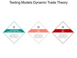 Testing Models Dynamic Trade Theory Ppt Powerpoint Presentation Ideas Layout Cpb