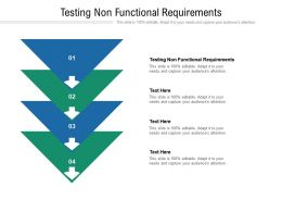Testing Non Functional Requirements Ppt Powerpoint Presentation Icon Show Cpb