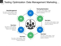 Testing Optimization Data Management Marketing Automation Search Marketing