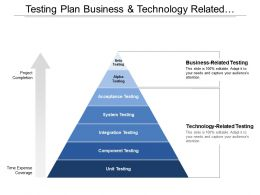 Testing Plan Business And Technology Related Testing Project Completion