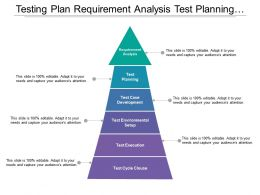 Testing Plan Requirement Analysis Test Planning Test Case Development