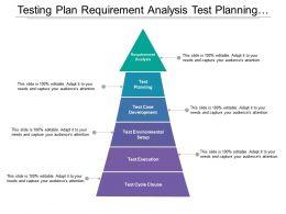 Testing Plan Requirement Analysis Test Planning Test Case Development