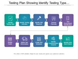 Testing Plan Showing Identify Testing Type And Activities