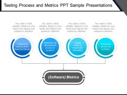 Testing Process And Metrics Ppt Sample Presentations