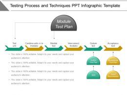 Testing Process And Techniques Ppt Infographic Template