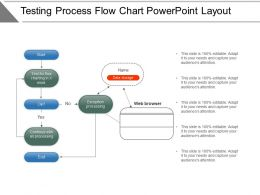 Testing Process Flow Chart Powerpoint Layout