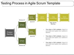 Testing Process In Agile Scrum Template Ppt Slide Design