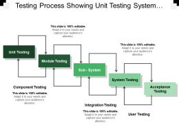 Testing Process Showing Unit Testing System Testing Acceptance