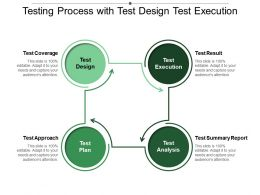Testing Process With Test Design Test Execution Analysis And Plan