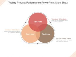 Testing Product Performance Powerpoint Slide Show