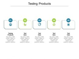 Testing Products Ppt Powerpoint Presentation Gallery Display Cpb
