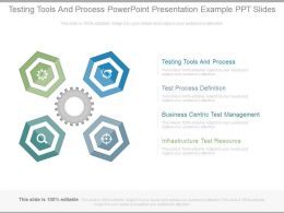 Testing Tools And Process Powerpoint Presentation Example Ppt Slides