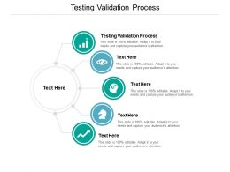 Testing Validation Process Ppt Powerpoint Presentation Professional Aids Cpb