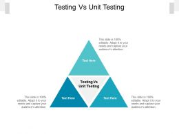 Testing Vs Unit Testing Ppt Powerpoint Presentation Inspiration Deck Cpb