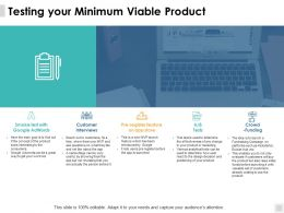Testing Your Minimum Viable Product Customer Interviews Ppt Powerpoint Presentation