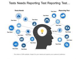 Tests Needs Reporting Test Reporting Test Anticipate Saving