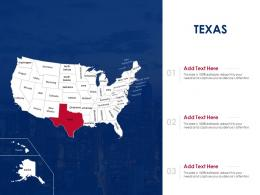 Texas Map Powerpoint Presentation PPT Template