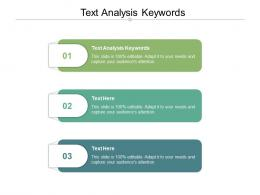 Text Analysis Keywords Ppt Powerpoint Presentation Infographic Template Maker Cpb